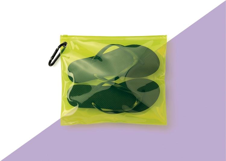 pochette piatta in PVC trasparente