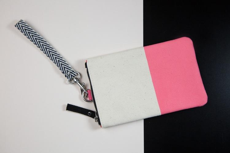 porta cellulare in canvas con maniglia