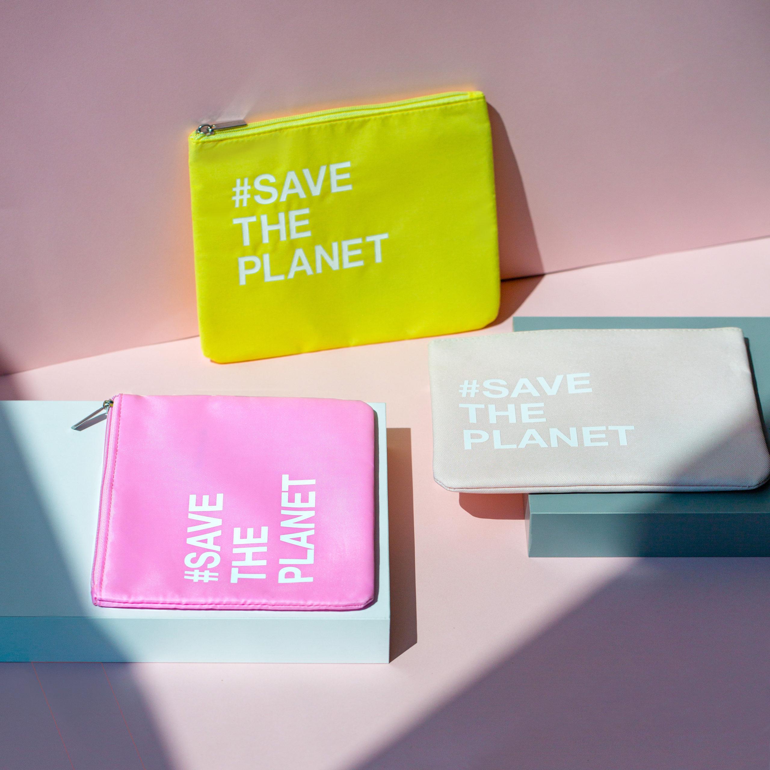 Sustainable pouch pochette ecosostenibile
