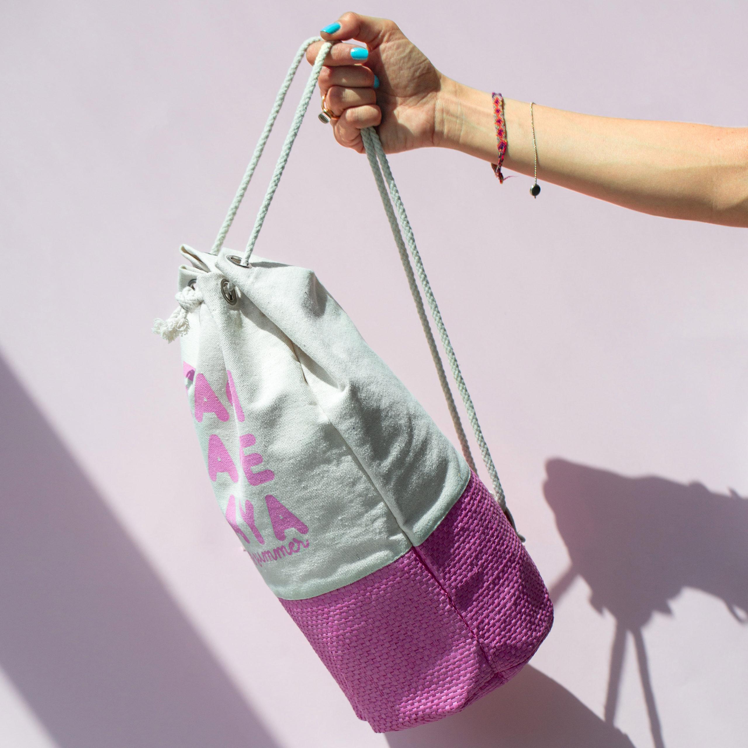 backpack zainetto carta paglia straw paper