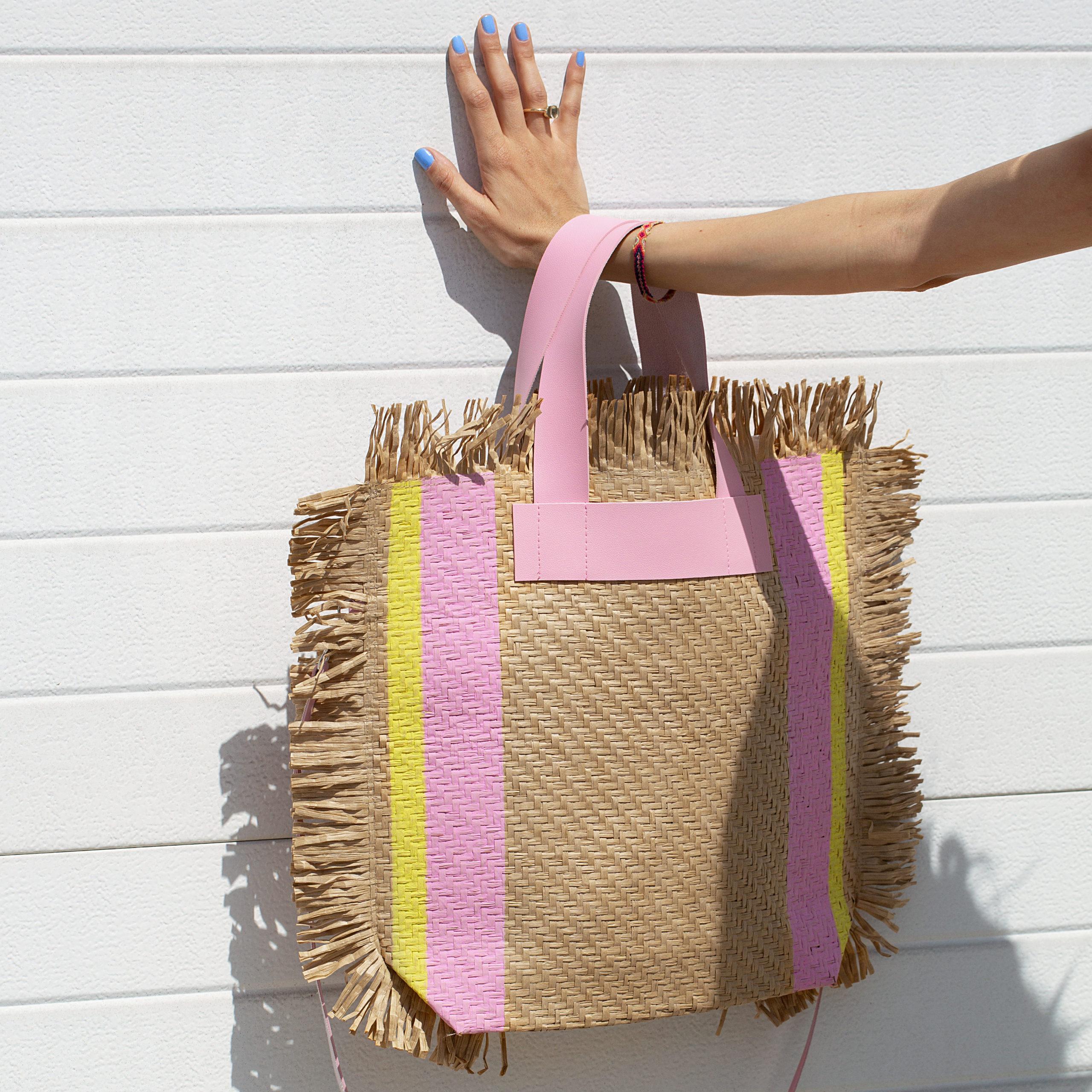 bag strawpaper borsa carta paglia
