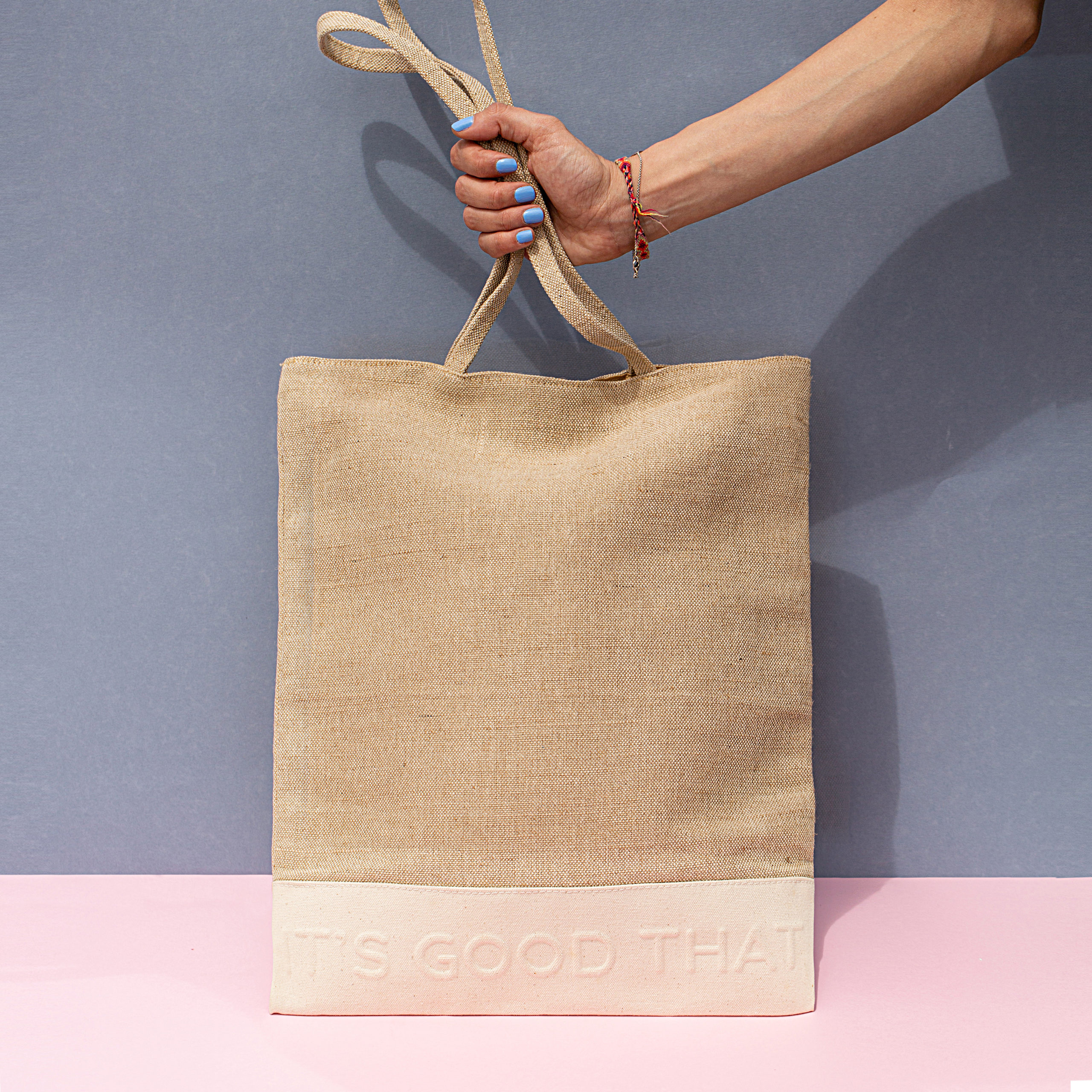 Natural shopper bag Canvas Linen Borsa