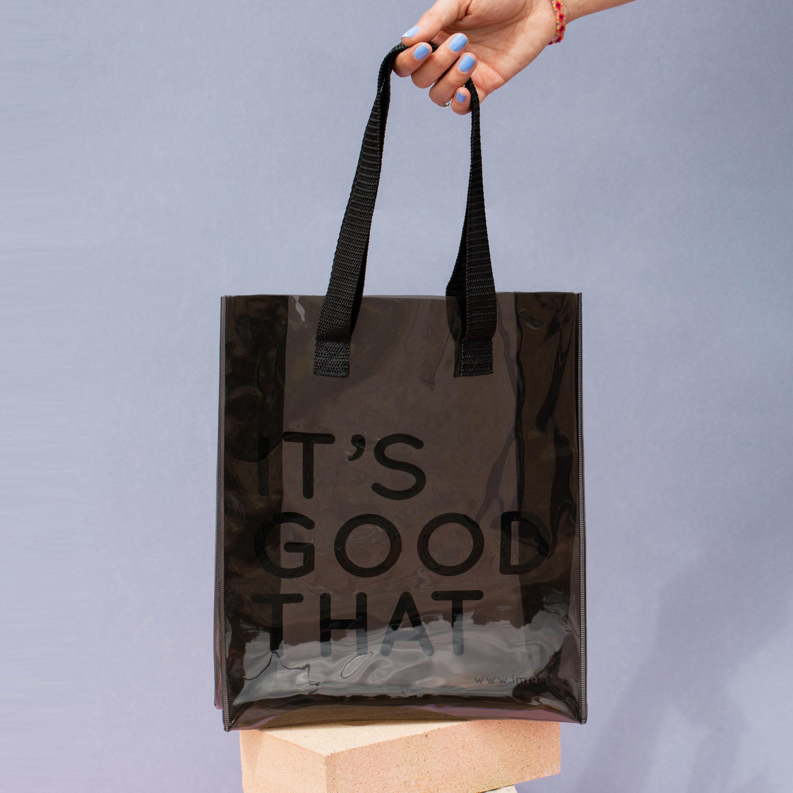 Clear PVC Shopper Bag Borsa