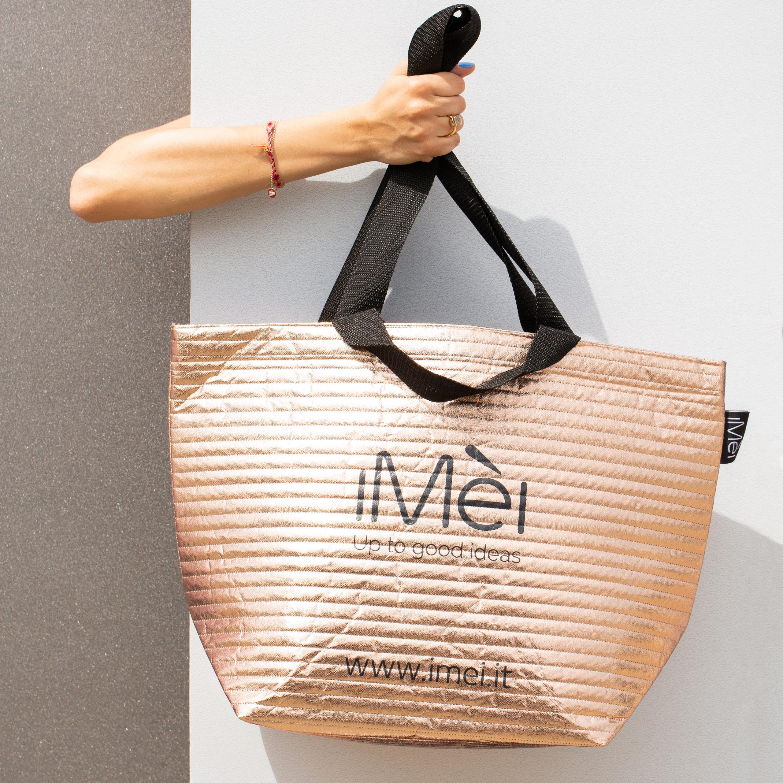 Non-woven rose gold shopper Bag TNT borsa